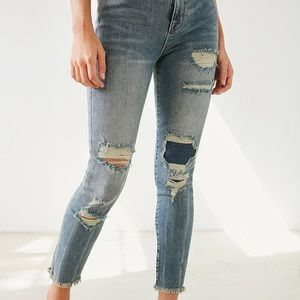 Ripped/patchwork jeans from Urban Outfitters